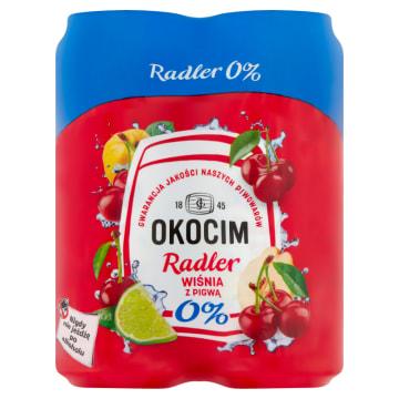 OKOCIM RADLER Piwo bezalkoholowe Wiśnia z pigwą 4x500ml 2l