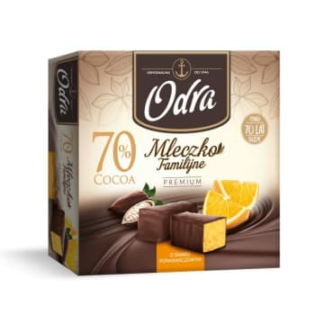ODRA Familijne Mleczko Premium o smaku pomarańczy 320g
