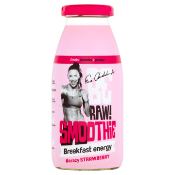 BE RAW Smoothie - Breakfast – truskawka, ziarna 250 ml