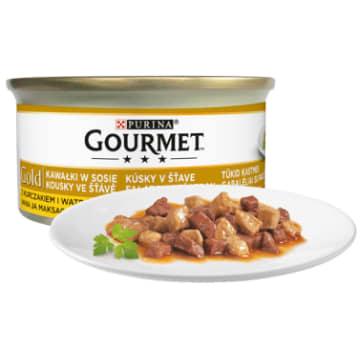 Pokarm dla kotów Gold Gourmet  - kurczak i wątróbka w sosie to najwyższej jakości karma dla kotów.