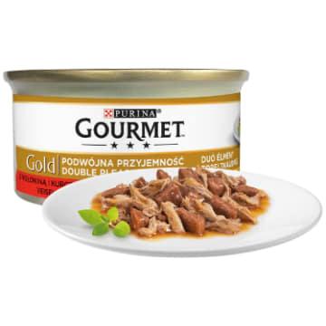 GOURMET Gold mix wołowina i kurczak (puszka) 85g - dla odpowiedniej diety każdego kota.
