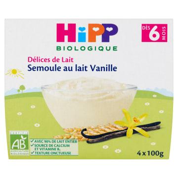 HIPP Kaszka mleczna waniliowa dla niemowląt - po 6 miesiącu BIO 400g
