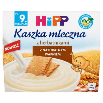 HIPP Kaszka mleczna z herbatnikami - po 9 miesiącu (4x100g) BIO 400g