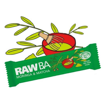 RAW BA Baton Moringa&Matacha BIO 40g