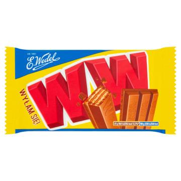 Wedel WW - Wafelek z nadzieniem orzechowym w czekoladzie. Świetny sposób na odprężenie.