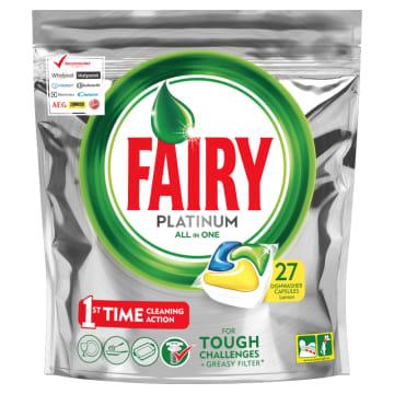 Kapsułki do zmywarek Lemon - Fairy Platinum zapewniają czystość w każdej sytuacji.