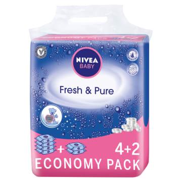 NIVEA Baby Chusteczki Fresh & Pure 6x63 szt. 1szt