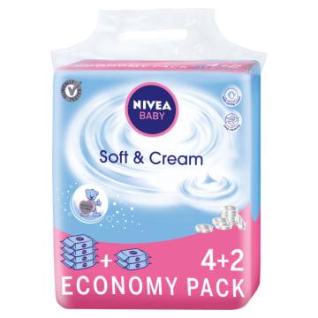 NIVEA Baby Chusteczki Soft & Cream 6x63 szt. 1szt