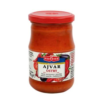 PODRAVKA Ajvar Pasta warzywna ostra smak kuchni śródziemnomorskiej 195g