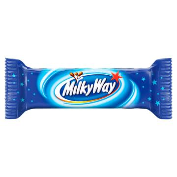 Baton z nadzieniem w mlecznej czekoladzie - Milky Way. Lekki batonik w pysznej czekoladzie