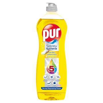 Pur 3xAction Lemon - Płyn do mycia naczyń 900ml. Doskonale myje i nabłyszcza naczynia.