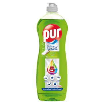Pur 3xAction Apple Płyn do mycia naczyń jest skuteczny i ma przyjemny jabłkowy zapach.
