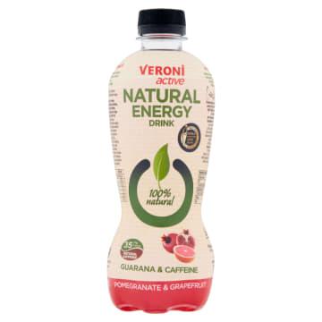 VERONI ACTIVE Natural Energy Drink Napój gazowany energetyzujący granat & grejpfrut 400ml