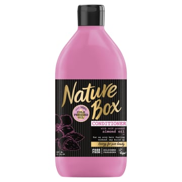 NATURE BOX Odżywka do włosów z olejem migdałowym 385ml