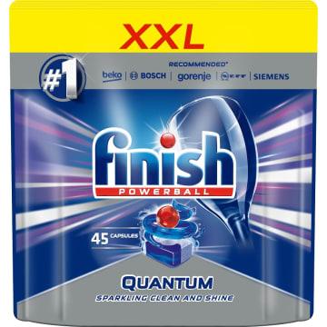 FINISH POWERBALL Quantum Kapsu³ki do zmywarki Regular 45 szt