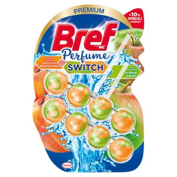BREF Perfume Switch Zawieszka do WC - S³odka brzoskwinia-Czerwone jab³ko 2x50g
