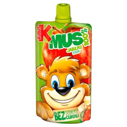 Kubuś - 100% mus jabłkowo-bananowy, 100g. Idealne uzupełnienie codziennej diety.