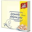JAN NIEZBĘDNY Serwetki dekoracyjne 40x40 (ecru), 20 szt. 1szt
