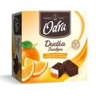ODRA Duetka Familijna Pianka z galaretką z sokiem pomarańczowym w czekoladzie 400g