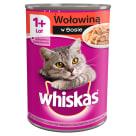 WHISKAS 1+ Pokarm dla Kotów z Wołowiną w Sosie - Puszka 400g
