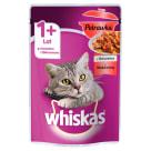 WHISKAS Potrawka 1+ Pokarm dla Kotów z Wołowiną w Galaretce - Saszetka 85g
