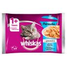 WHISKAS Potrawka 1+ Pokarm dla Kotów - Smaki Rybne w Galaretce (4 saszetki) 340g