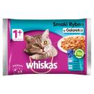 WHISKAS 1+ Pokarm dla Kotów - Smaki Rybne w Galaretce (4 saszetki) 400g