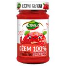 ŁOWICZ Dżem 100% z owoców extra gładki truskawka 235g