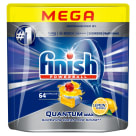 FINISH POWERBALL Quantum MAX Kapsułki do zmywarki Lemon Sparkle 64 szt. 1 szt
