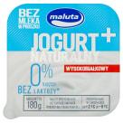 MALUTA Jogurt naturalny wysokobiałkowy 0% bez laktozy 180g