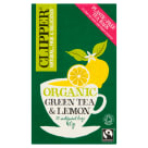 CLIPPER Herbata zielona z cytryną BIO 20 torebek 40g