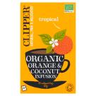 CLIPPER Herbata z pomarańczą i kokosem BIO 20 torebek 60g