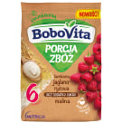 BOBOVITA Porcja Zbóż Kaszka bezmleczna jaglano - ryżowa malina po 6 miesiącu 170g