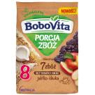 BOBOVITA Porcja Zbóż Kaszka mleczna 7 zbóż jabłko-śliwka od 8 miesiąca 210g