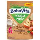 BOBOVITA Porcja Zbóż Kaszka mleczna 3 zboża owsiana jabłko od 6 miesiąca 210g