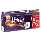 VELVET Excellence Papier toaletowy Premium Komfort 8 rolek + 2 Gratis 1szt