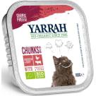 YARRAH Pokarm dla kota - kawałki kurczaka z wołowiną BIO 100g