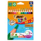 BIC Kids Kredki o trójkątnym kształcie 12 kolorów 1szt
