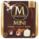 MAGNUM Mini Classic Almond White Lody waniliowe 6 szt. 330ml