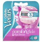 GILLETTE Venus Comfortglide Spa Breeze Wkłady do maszynki do golenia dla kobiet 4szt. 1szt