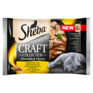 SHEBA CRAFT COLLECTION Pokarm dla Kotów - Smaki Drobiowe w Sosie (4 saszetki) 340g