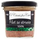 O'CANIS Deluxe Filet ze strusia dla kota w słoiku 120g