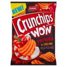 CRUNCHIPS Wow Grubo krojone chipsy ziemniaczane o smaku kremowej papryki 110g