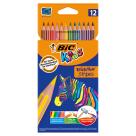 BIC Kids Kredki ołówkowe pudełko 12 kolorów 1szt