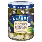 KRAKUS Ogórki korniszony z czosnkiem 500g