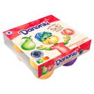 DANONE Danonki MEGA Serek o smaku brzoskwiniowo-gruszkowo-jagodowym 4sztx90g 360g