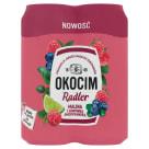 OKOCIM RADLER Piwo o smaku maliny i borówki amerykańskiej w puszce 4x500ml 2l