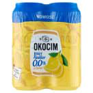 OKOCIM RADLER Piwo bezalkoholowe, białe o smaku cytrynowym w puszce 4x500ml 2l