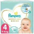 PAMPERS Premium Care Pieluchy Rozmiar 4 Maxi (9-14kg) 52 szt 1szt