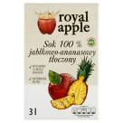 ROYAL APPLE Sok jabłko - ananas w kartonie tłoczony 3l